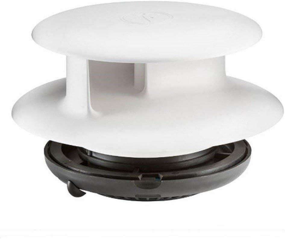 /Évent de toit entra/în/é par le vent TCX-2 Flettner en format standard blanc