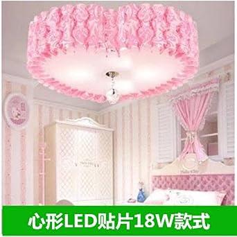 Romantische Hochzeit Zimmer Schlafzimmer Lampe Led Energiespar Prinzessin  Zimmer Ideen Personalisierte Herzförmigen Deckenleuchte,Herzförmige