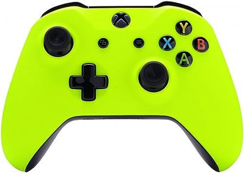 eXtremeRate Carcasa para Xbox One S X Funda Delantera Protectora de la Placa Frontal Cubierta de reemplazo para Mando del Xbox One S y Xbox One X (Model 1708) Amarillo Fluorescente: Amazon.es: