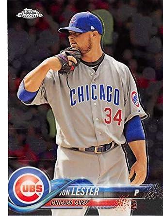 Amazoncom 2018 Topps Chrome 191 Jon Lester Chicago Cubs