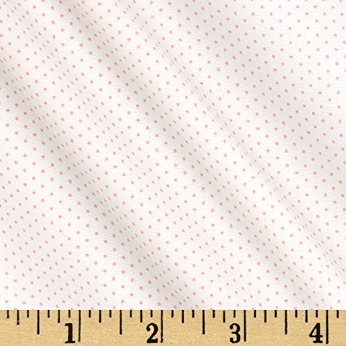 Robert Kaufman Kaufman Sevenberry Petite Basics Mini Dot Baby Pink Fabric by The Yard, ()
