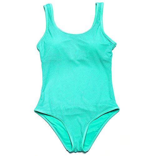 cc39b3363f GraceMi New brazilian Swimwear solid Swimsuit one piece women swimsuit mesh  Beach Bathing Suit Plus Size green S