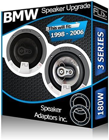 adaptateurs inclus de 180w pour BMW. Lot de 2 haut-parleurs pour porti/ère avant