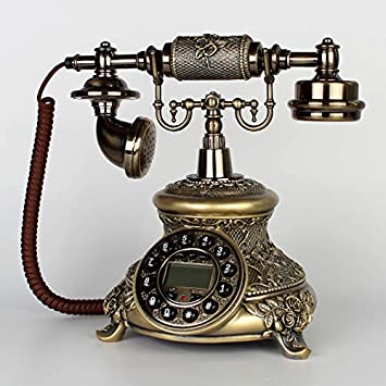 Telefono Fijo Vintageconjunto De Teléfono Antiguo Tarjeta De Teléfono Retro del Hogar Inalámbrico Tarjeta De Teléfono Móvil Unicom Conjunto De Teléfono Fijo De Cobre Vers: Amazon.es: Electrónica