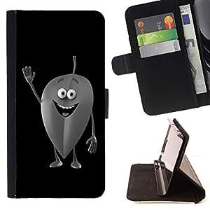 For Apple iPhone 5C Case , Amistoso Leaf- la tarjeta de Crédito Slots PU Funda de cuero Monedero caso cubierta de piel