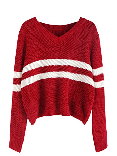 Red V-Neck Jumper - 3