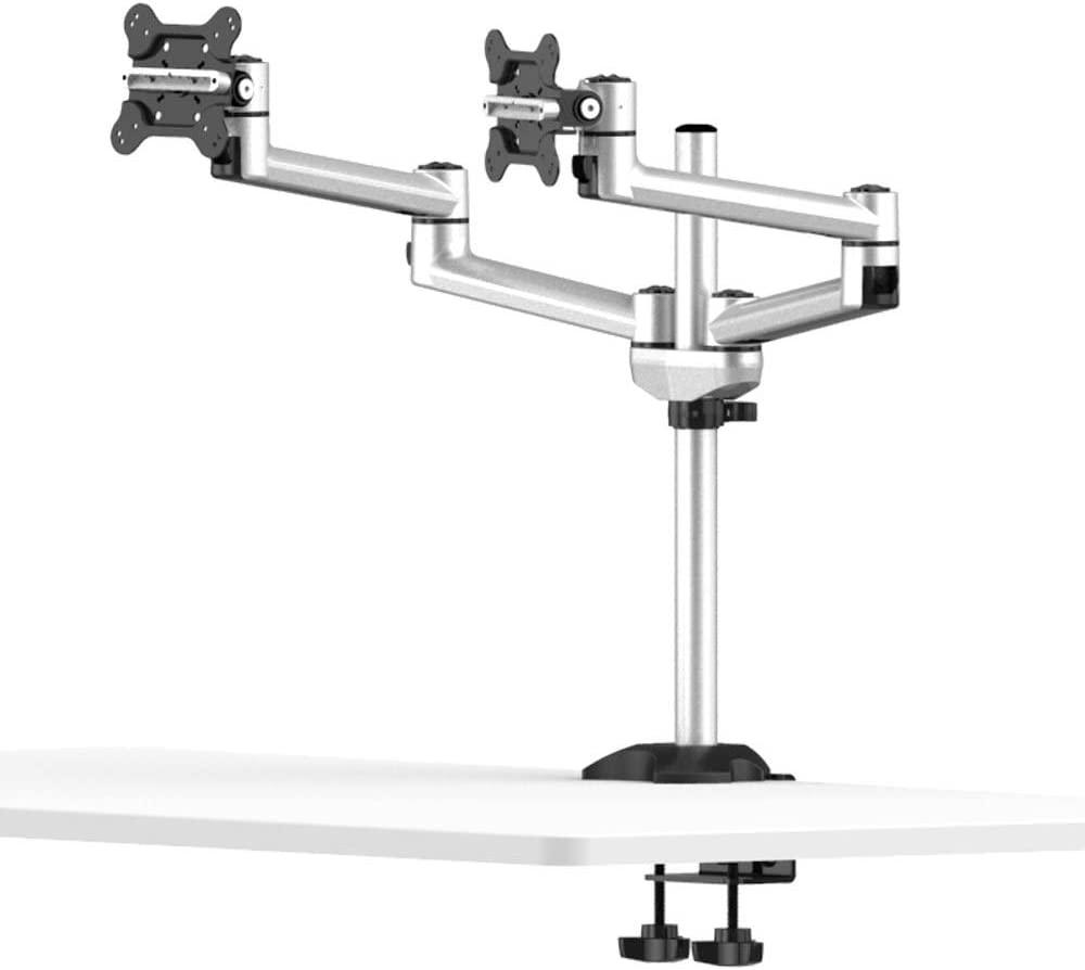 Cotytech Dual Monitor Desk Mount for Apple Quick Release with Dual Swivel Arms (BL-AP20)
