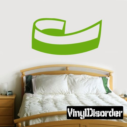 "Vinyl Disorder scrollsMC123 Scrolls Car Wall Decal, 36"", Bla"