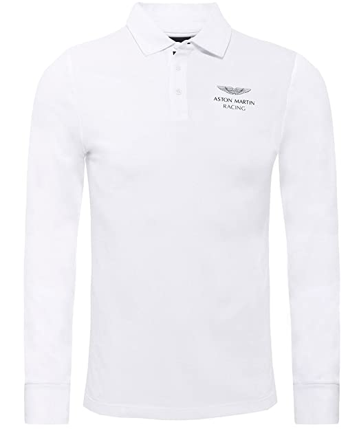 Hackett London AMR Supima LS Polo, Blanco (White 800), XXL para ...