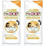 P'tit Dop - Bain + Douche Hypoallergénique Pêche-Abricot Maxi Format - 400 ml - Lot 2