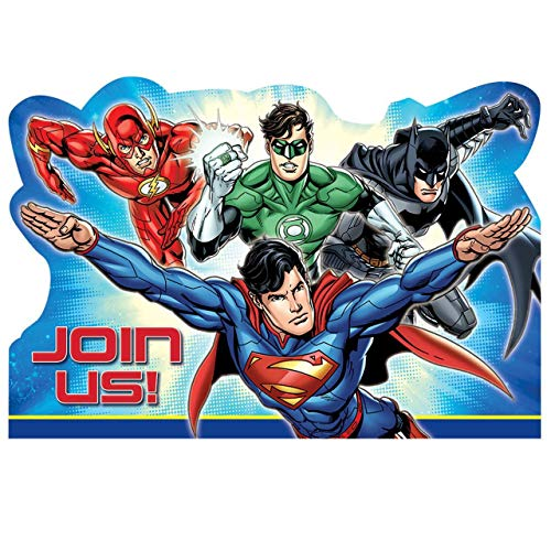 DC Justice League Superhero Birthday Party Invitation 16 Count Save The Date]()