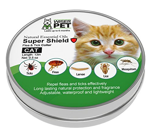Natural Cat Flea Collar | Enjoy up to 6 months all-natural protection for your pet from fleas, ticks and other bugs & insects | Chemical and toxin free, safe for your cat, family and home