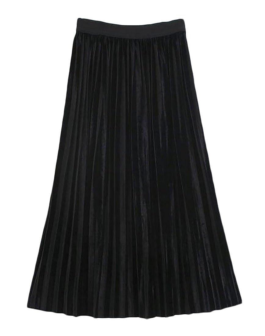 GAGA-women clothes SKIRT レディース B076897C8M  ブラック One Size