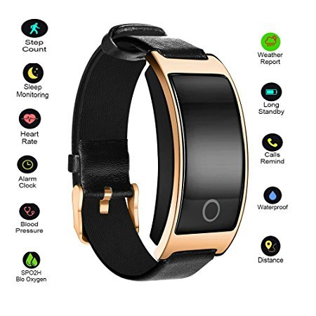 Hangang Fitness Tracker Smart Bracelet Sport tracker Activity Wristband Intelligent Watch health Tracker Heart Rate Blood Pressure Oxygen Monitor For IOS And Android Phone Business Type CK11S (gold) by Hangang
