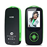 Mp3 Player with Bluetooth 16GB Niusute FM Player Music Players Support up to 64GB Green