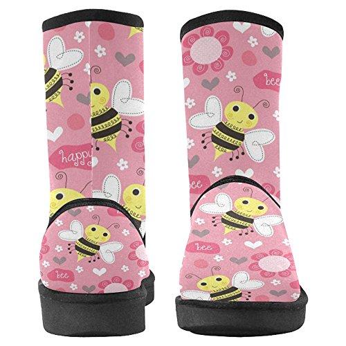 InterestPrint Womens Snow Boots Unique Designed Comfort Winter Boots Multi 23 3uyiO48E