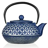 #6: Large 27oz Cast Iron Teapot with Stainless Steel Infuser | Enamel Coated Interior | Japanese Tea Kettle | Great Gift Idea