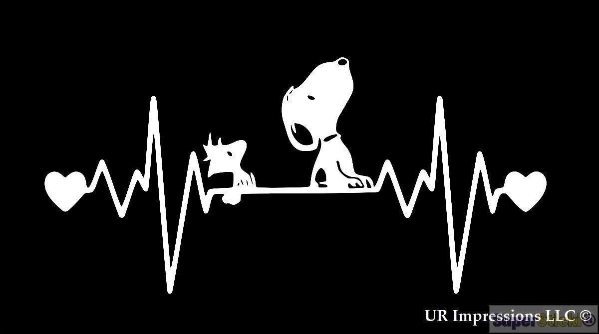 SUPERSTICKI Herzschlag Snoopy ca 20cm Auto Aufkleber Bike Motorrad Fun Tuning Decal aus Hochleistungsfolie Aufkleber Autoaufkleber Tuningaufkleber Hochleistungsfolie f/ür alle glatten Fl/ächen