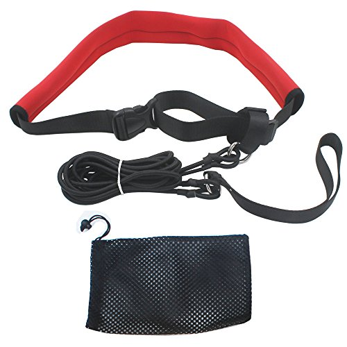 YYST 2.0M Pool Swim Training Leash Swim Training Belt Swim Resistance Tether by YYST