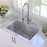 KRAUS KHU100-30 30-inch 16 Gauge Undermount Single Bowl Stainless Steel Sink