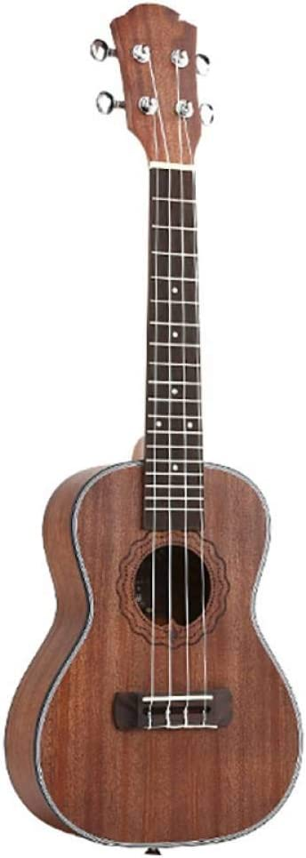 ZGHNAK Yael 23 pulgadas concierto ukelele 4 cuerdasmini guitarra Uku café guitarra acústica caoba palo de rosa