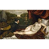Canvas Prints Of Oil Painting 'Titian [Vecellio Di Gregorio Tiziano] Venus With The Organist 1550' 20 x 33 inch / 51 x 84 cm , Polyster Canvas, gifts for Bath Room, Kids Room And Laundry Ro decoration