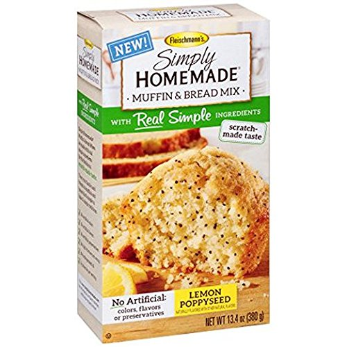 Fleischmann's Simply Homemade Lemon Poppyseed Muffin and Bread Mix, 13.4 Ounce (Pack of 2) (Lemon Seed Muffins Poppy)