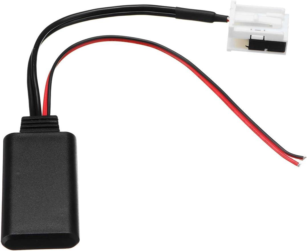JenNiFer Adaptateur Bluetooth Aux 12 Broches C/âble Audio Aux pour BMW E60 E63 E64 E61