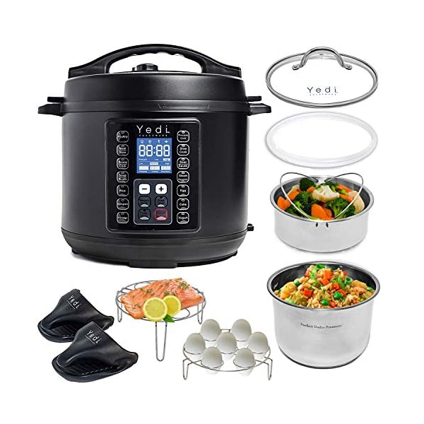 Yedi 9-in-1 Total Package Instant Programmable Pressure Cooker, 6 Quart, Deluxe Accessory kit, Recipes, Pressure Cook… 1