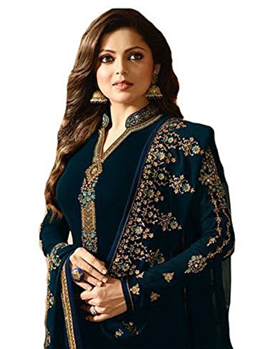 Ready Made Fashionable Designer Straight Salwar Kameez LT Nitya 2201-2208 (Blue, L-42) (Blue Salwar Suit)