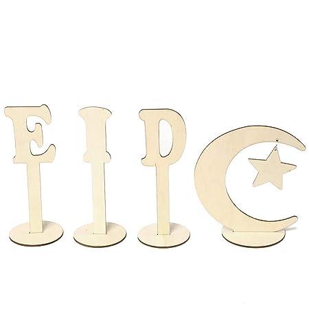 Compra Seasaleshop - Juego de 4 Letras de Madera para ...