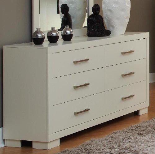Coaster Home Furnishings Contemporary Dresser, White - Bureau Dresser