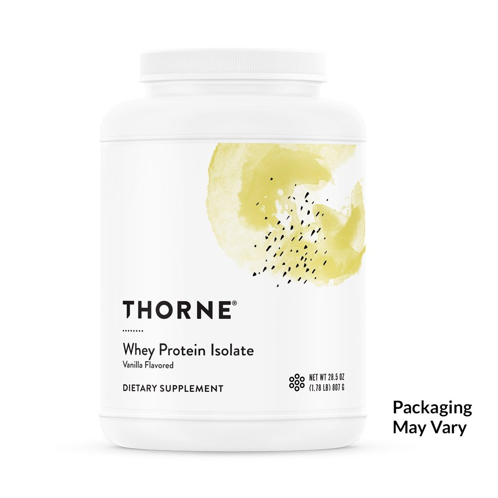 Thorne Research - Whey Protein Isolate (Vanilla Flavor) - Easy-to-Digest Whey Protein Isolate Powder - NSF Certified for Sport - 28.5 oz