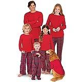 PajamaGram Family Christmas Pajamas Set - Cotton Flannel, Red, Women's, M, 8-10