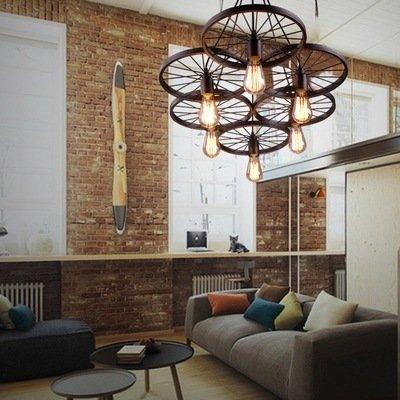 kronleuchter anhänger beleuchtung wohnzimmer kronleuchter yancui home dekorative beleuchtung kronleuchter industrielle rustikalen wagenrad anhänger leuchte esszimmer