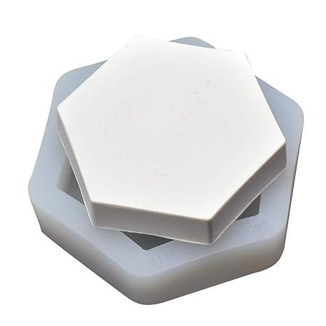 Funihut Molde de Silicona Tuercas Bandeja concreto de aromaterapia de Plana de hexágono de Plana