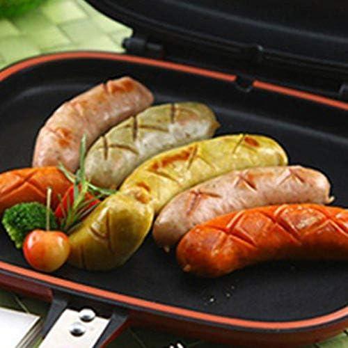 letaowl Mini poêle Poêle À Frire Double Face Antiadhésive Barbecue Outil De Cuisson Stable Durable Et Fiable Batterie De Cuisine Adapté pour La Maison en Plein Air