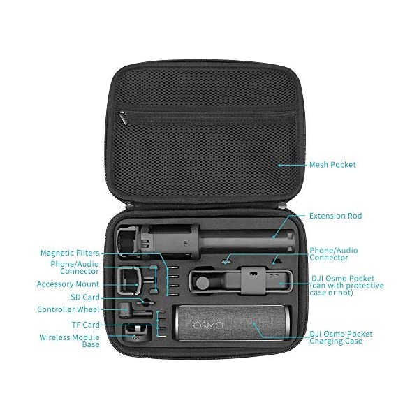 Surewo, custodia impermeabile per il trasporto, custodia da viaggio compatibile con DJI Osmo Pocket (media) 2 spesavip