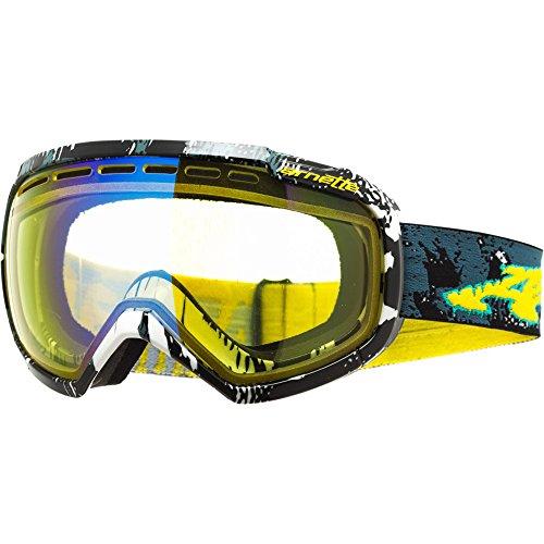 ARNETTE SKYLIGHT SNOW GOGGLES AN5004 FOR SKIING AND SNOWBOARDING (Horror Mummy w/ Bright Lemon Chrome - Arnette Goggles