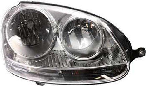 ht Passenger Side Headlight Head Lamp for 05-10 Volkswagen GTI, Jetta, Rabbit ()