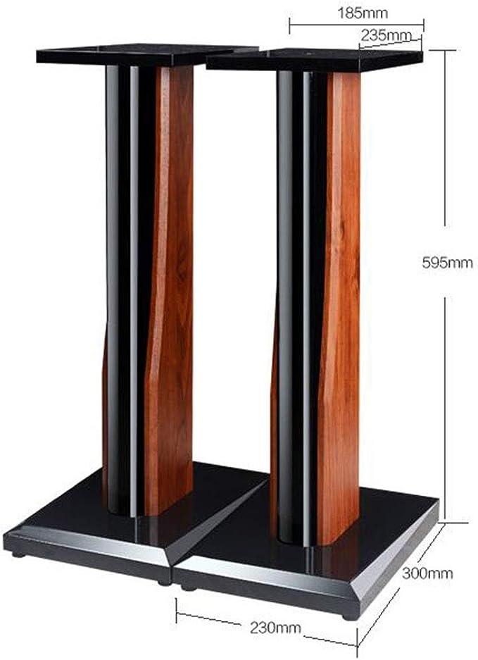 Supporti Speaker Stand Casa di Legno Speaker Stand Speaker Surround Professionale Stabile Stand Diffusori for Scaffale Color : Black, Size : 30cm
