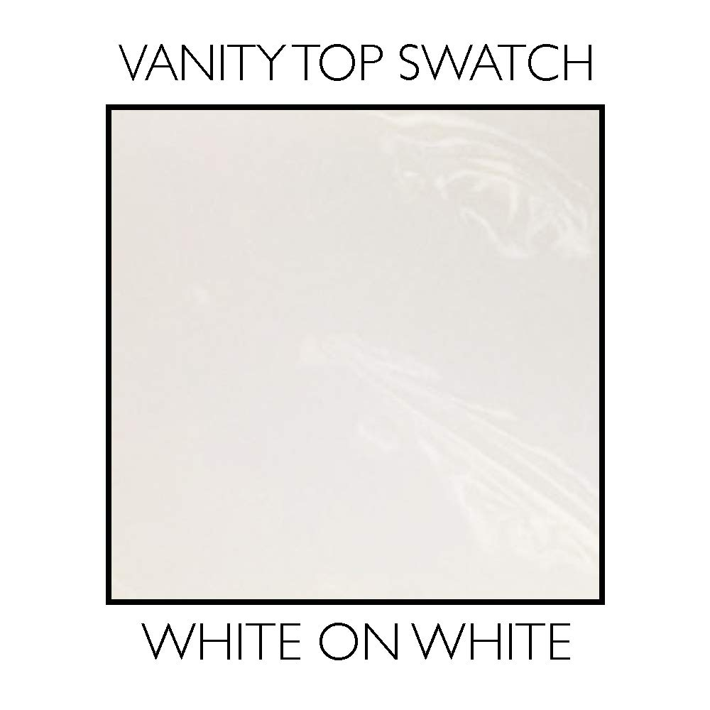 Single Bowl, Design House 550319 Cultured Marble Vanity Top 49 White