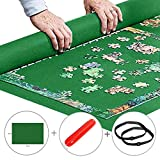 Yobooom Puzzle Mat Roll up Jigsaw Puzzle Pad Puzzle Storage Felt Mat Puzzles Saver (35.6'' x 24.1'') - Fits up to 1000 pieces