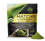 Matcha Green Tea Powder Organic ( Japanese Premium Culinary Grade ) - USDA & Vegan Certified - 30g (1.06 oz) - Perfect for Baking, Smoothies, Latte, Iced Tea, Herbal Teas. Gluten & Sugar Free