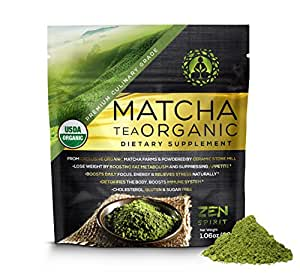 Matcha Green Tea Powder Organic, Japanese Premium Culinary Grade, Unsweetened & Sugar Free - USDA & Vegan Certified - 30g (1.06 oz) - Perfect for Baking, Smoothies, Latte, Iced tea & Weight Loss.