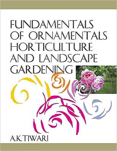Fundamentals Of Ornamentals Horticulture And Landscape Gardening por A.k. Tiwari epub