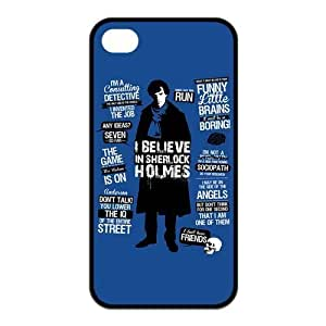 6 4.7s Case, iPhone 6 4.7 for kids Case - Fashion Style New Detective Sherlock Painted Pattern TPU Soft Cover Case for iPhone 6 4.7(Black/white)
