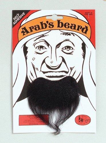 Black Arab Stick-on Goatee Beard (Beard With Goatee)