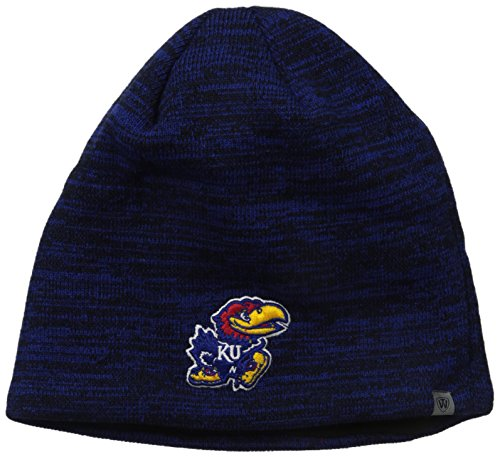 (Top of the World NCAA Kansas Jayhawks Adult Brisk Knit Hat, One Size, Royal)