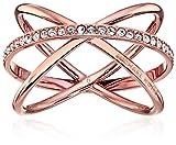 Michael Kors Best Deals - Michael Kors Pave Crisscross Rose Gold Tone Ring, Size 7